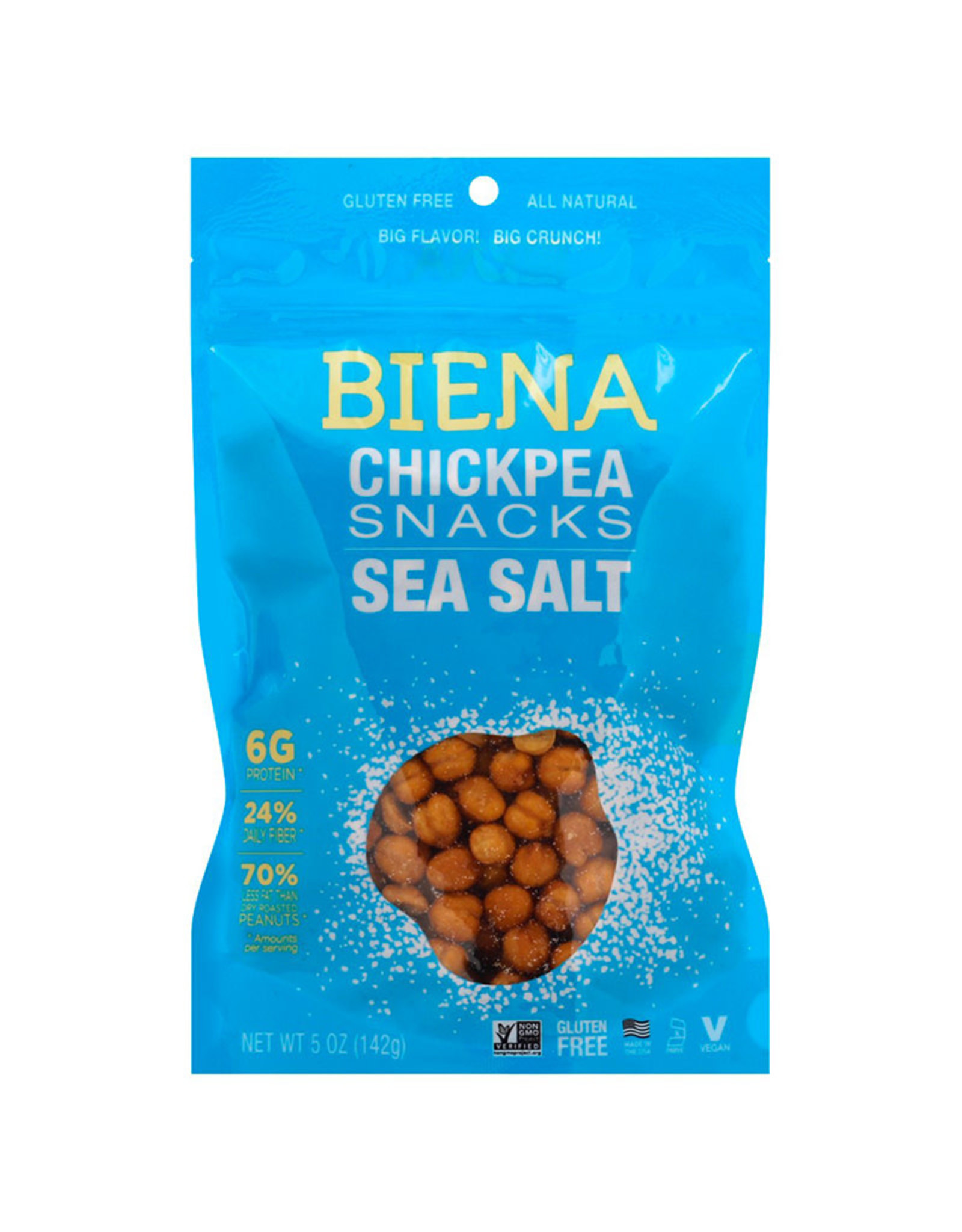 Biena Snacks Biena - Chickpea Snacks, Sea Salt