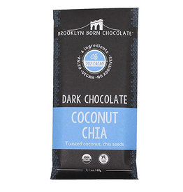 Brooklyn Born Chocolate Brooklyn - Paleo Chocolate Bar, Coconut Chia (60g)