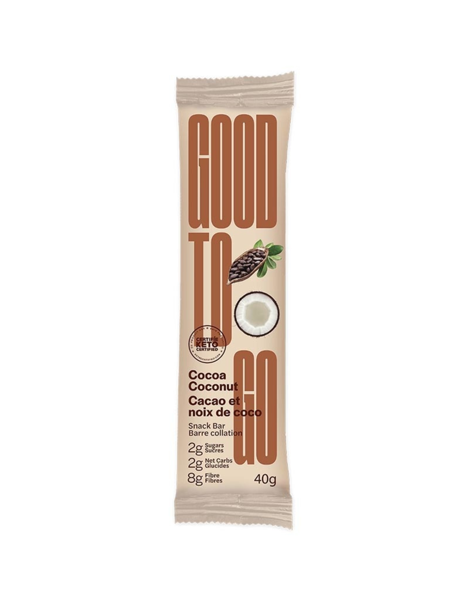 Good To Go Good To Go - Keto Bar, Cocoa Coconut (40g)