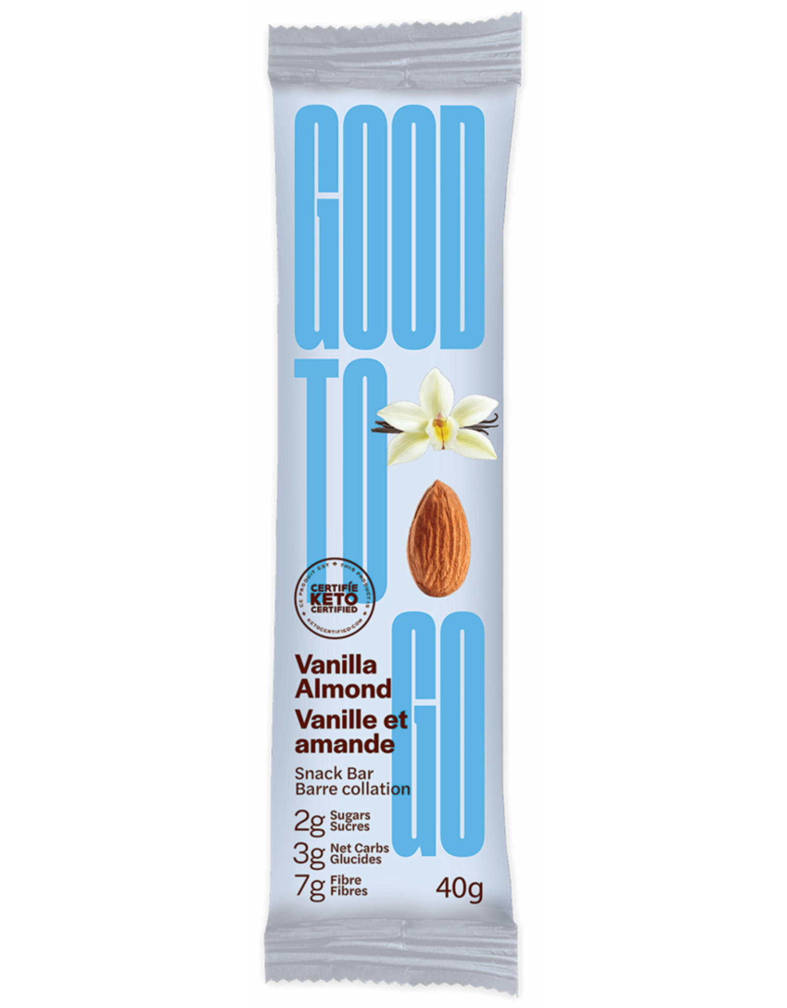 Good To Go Good To Go - Keto Bar, Vanilla Almond (40g)