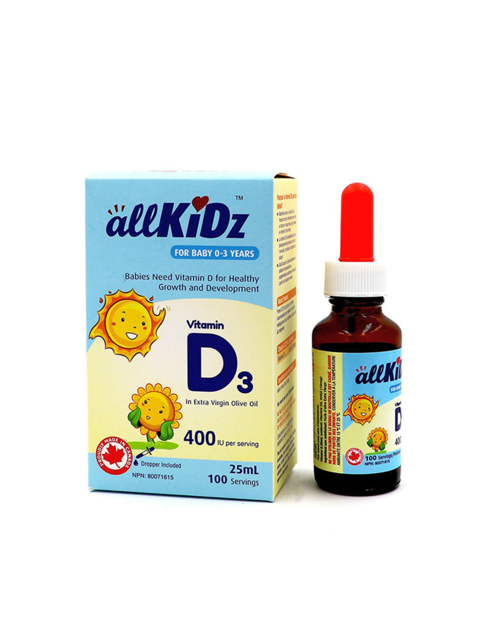 Allkidz Allkidz - Vitamin D3 Drops