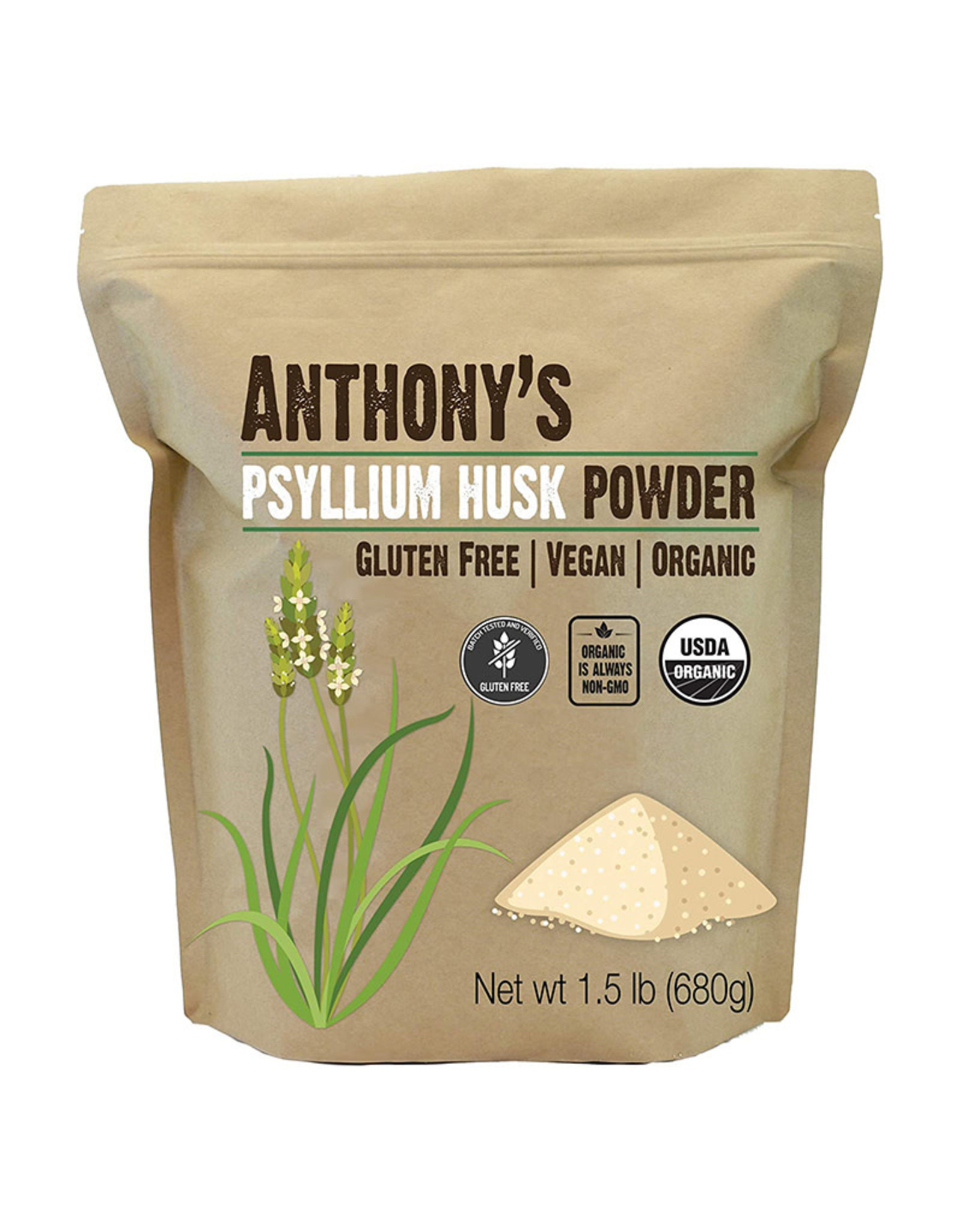 Anthony's Goods Anthonys Goods - Psyllium Husk Powder