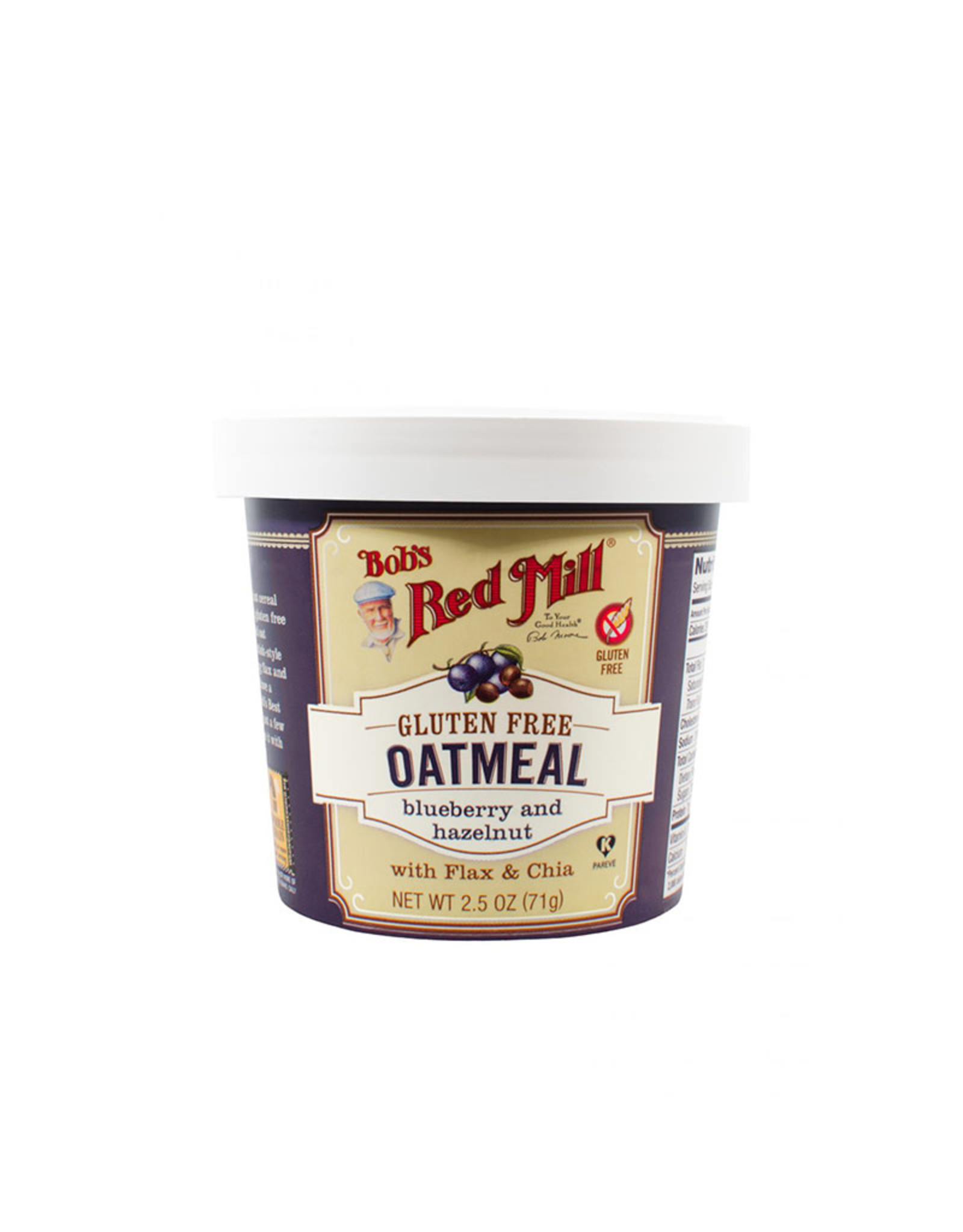 Bob's Red Mill Bobs Red Mill - Oatmeal Cups, Blueberry Hazelnut (71g)