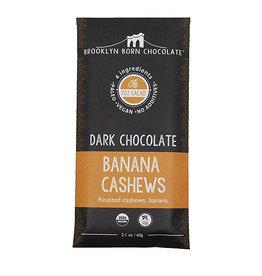 Brooklyn Born Chocolate Brooklyn - Paleo Chocolate Bar, Dark ChocBanana Cashew (60g)