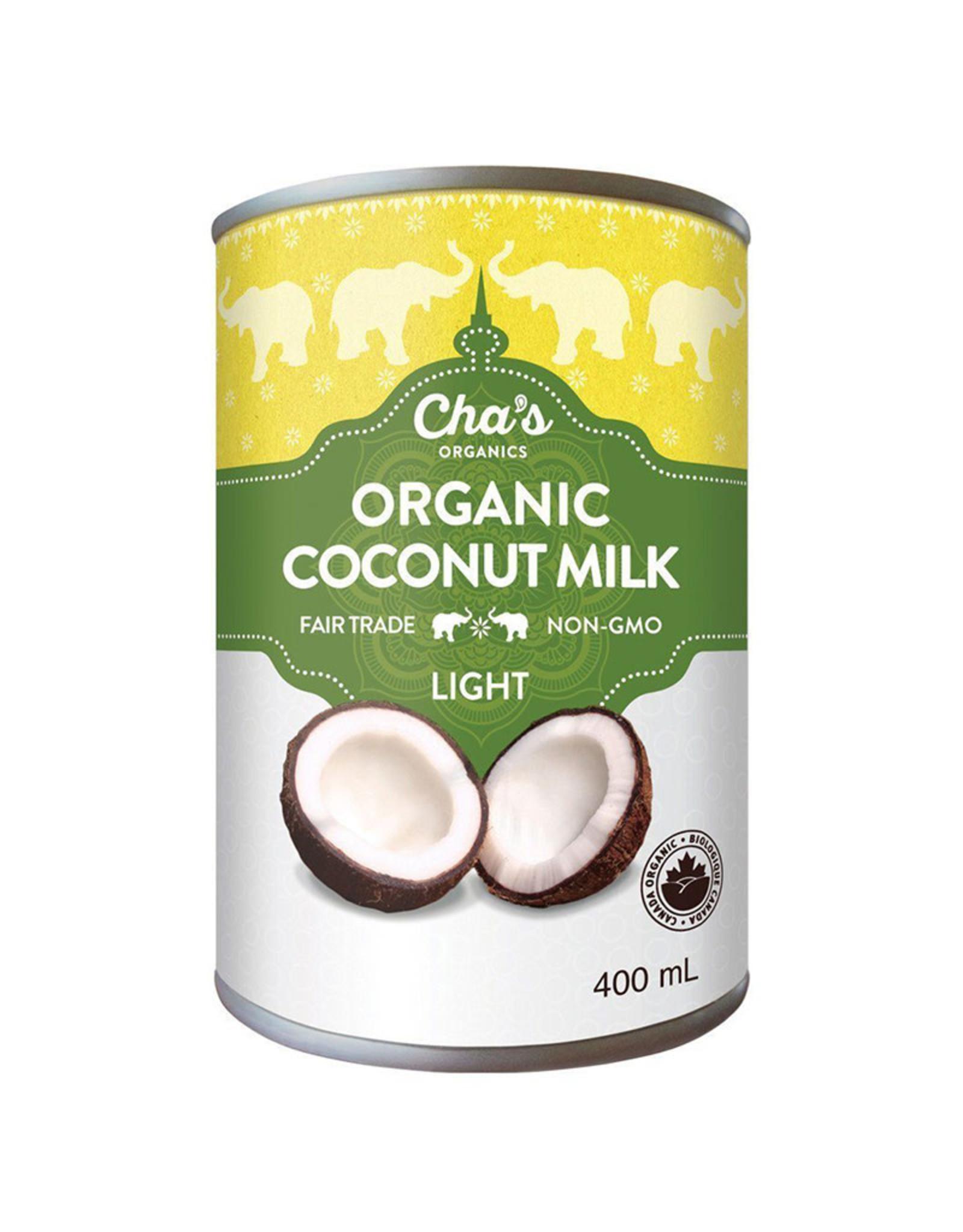Cha's Organics Chas Organics - Coconut Milk, Light (400ml)