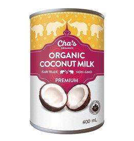 Cha's Organics Chas Organics - Coconut Milk, Premium (400ml)