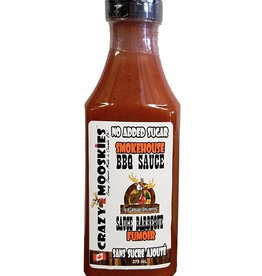 Crazy Mooskies Crazy Mooskies - No Sugar Added BBQ Sauce, Smokehouse (375ml)