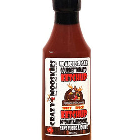 Crazy Mooskies Crazy Mooskies - No Sugar Added Ketchup with Stevia, Spicy (350ml)