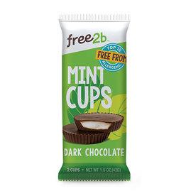 Free2B Free2B - Mint Cups, Dark Chocolate Coated (42g)