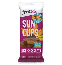 Free2B Free2B - Sun Cups, Rice Chocolate Coated Sunflower Butter (42g)