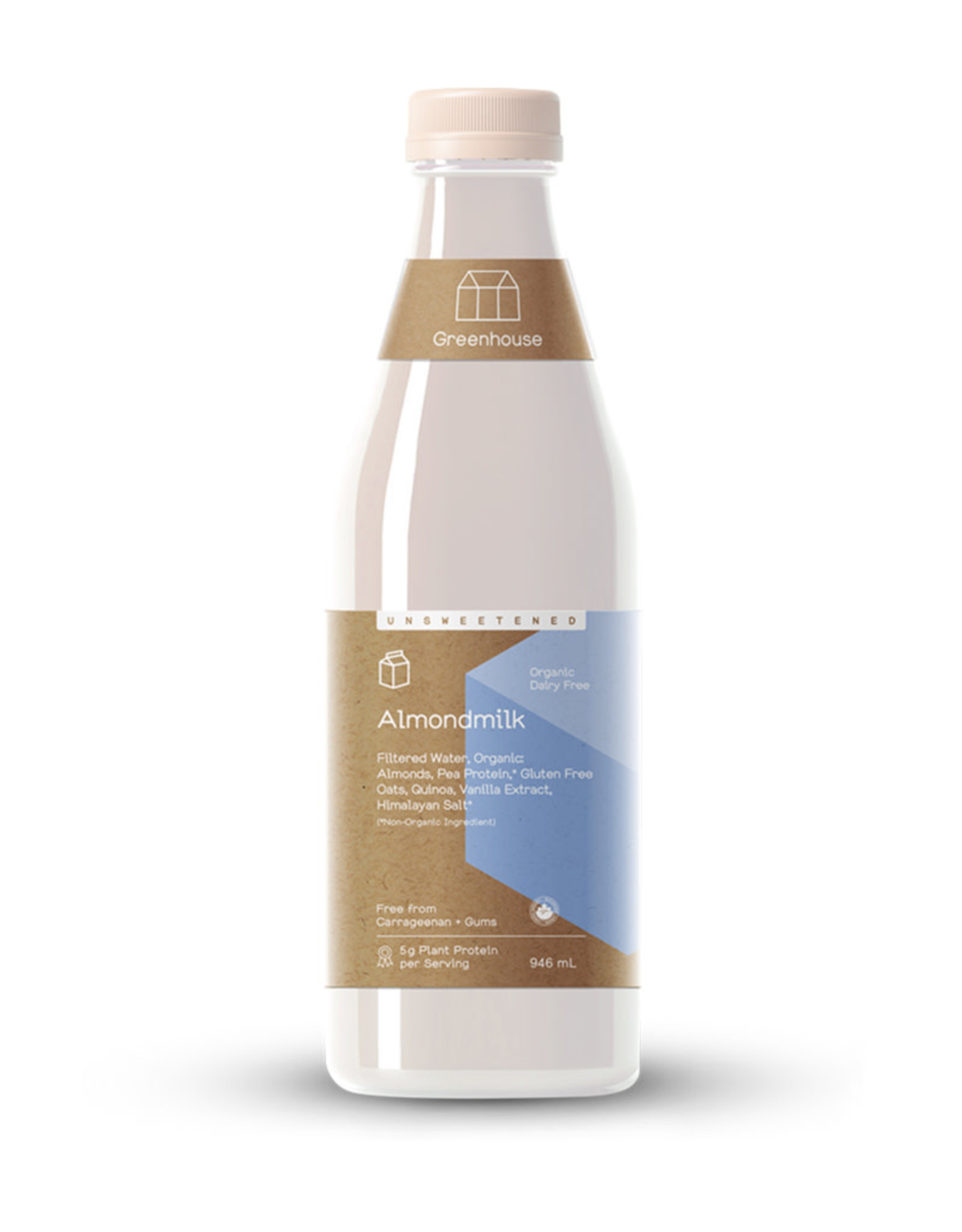 Greenhouse Juice Co. Greenhouse - Almond Milk, Unsweetened (946ml)