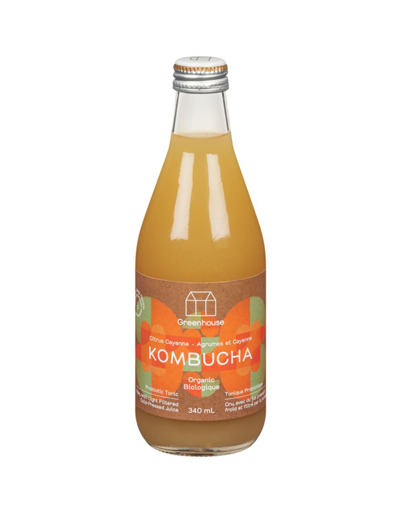 Greenhouse Juice Co. Greenhouse - Kombucha, Citrus Cayenne