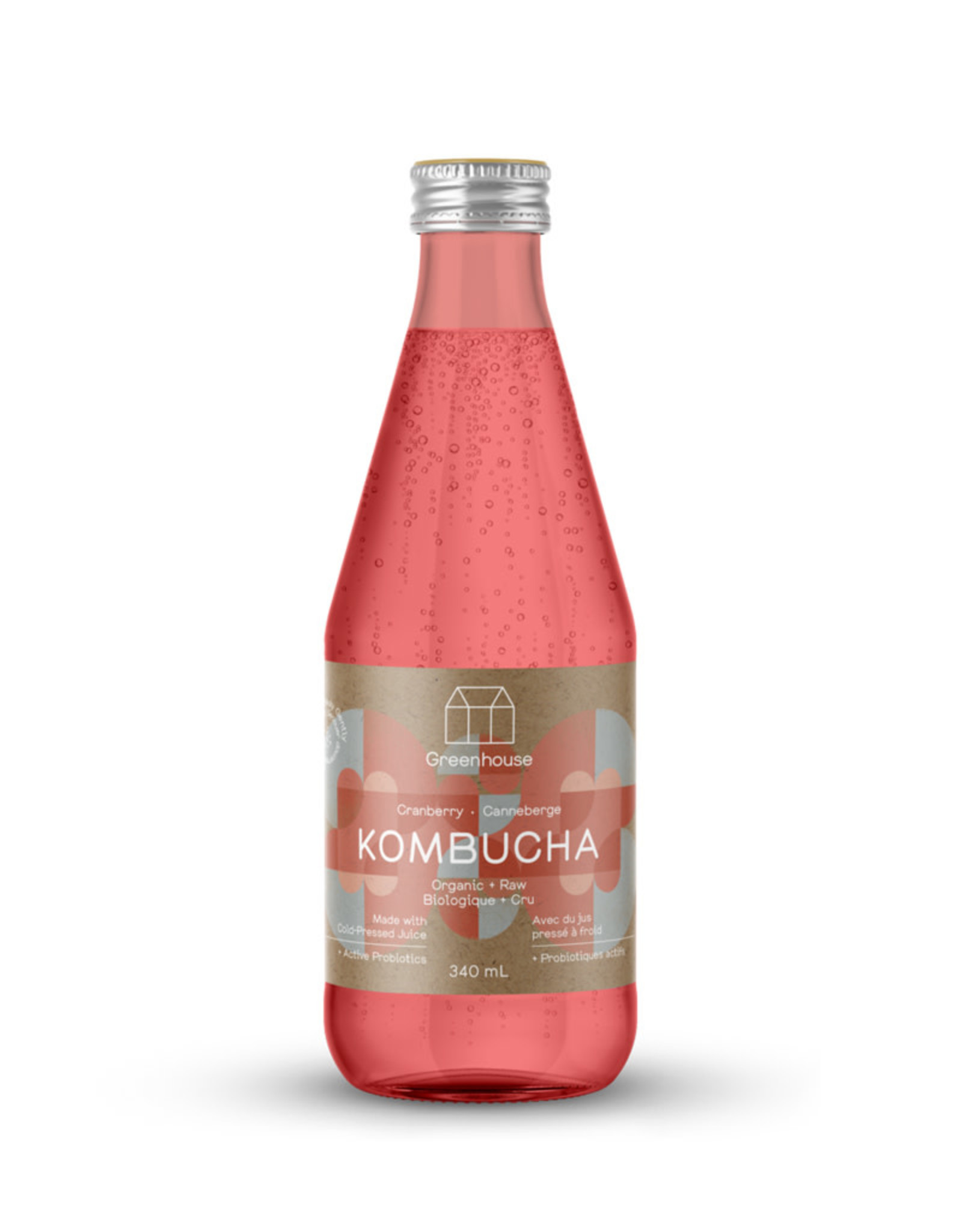 Greenhouse Juice Co. Greenhouse - Kombucha, Cranberry (340ml)