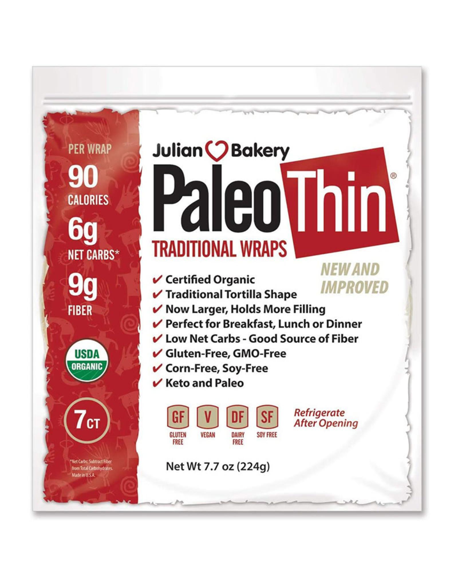 Julian Bakery Julian Bakery - Paleo Thin Gluten-Free Wraps, Traditional (7pk)