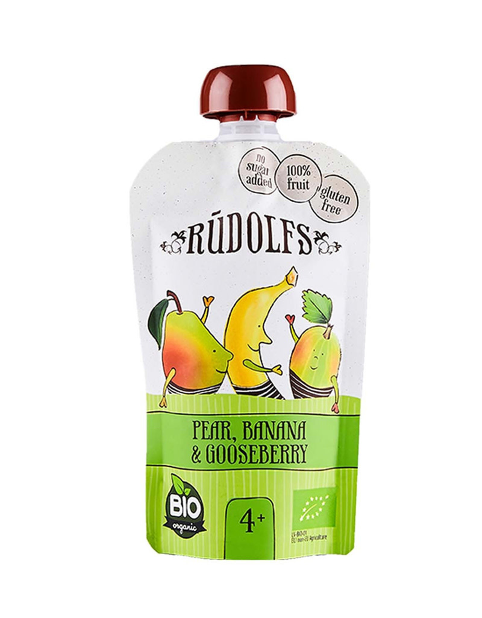 Rudolf's Bio Organics Rudolfs - Pear Banana Gooseberry Puree (110g)