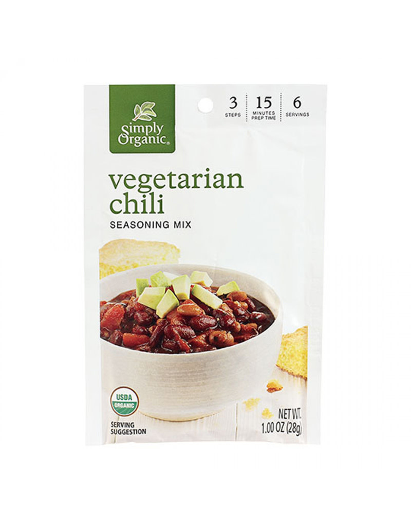 Simply Organic Simply Organic - Seasoning Mix, Vegetarian Chili