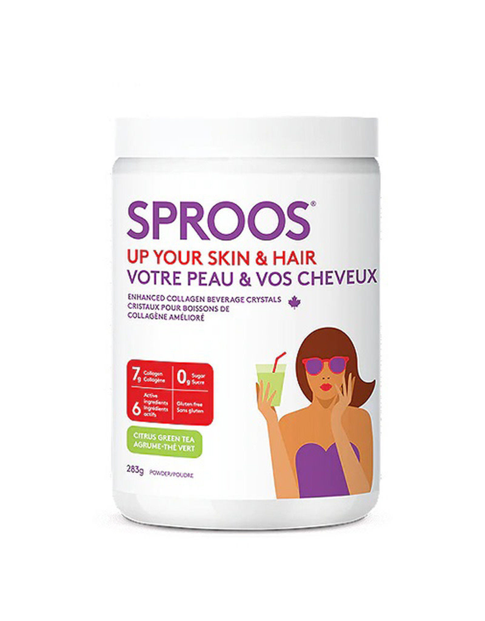 Sproos Sproos - Up Your Skin & Hair, Citrus Green Tea (238g)