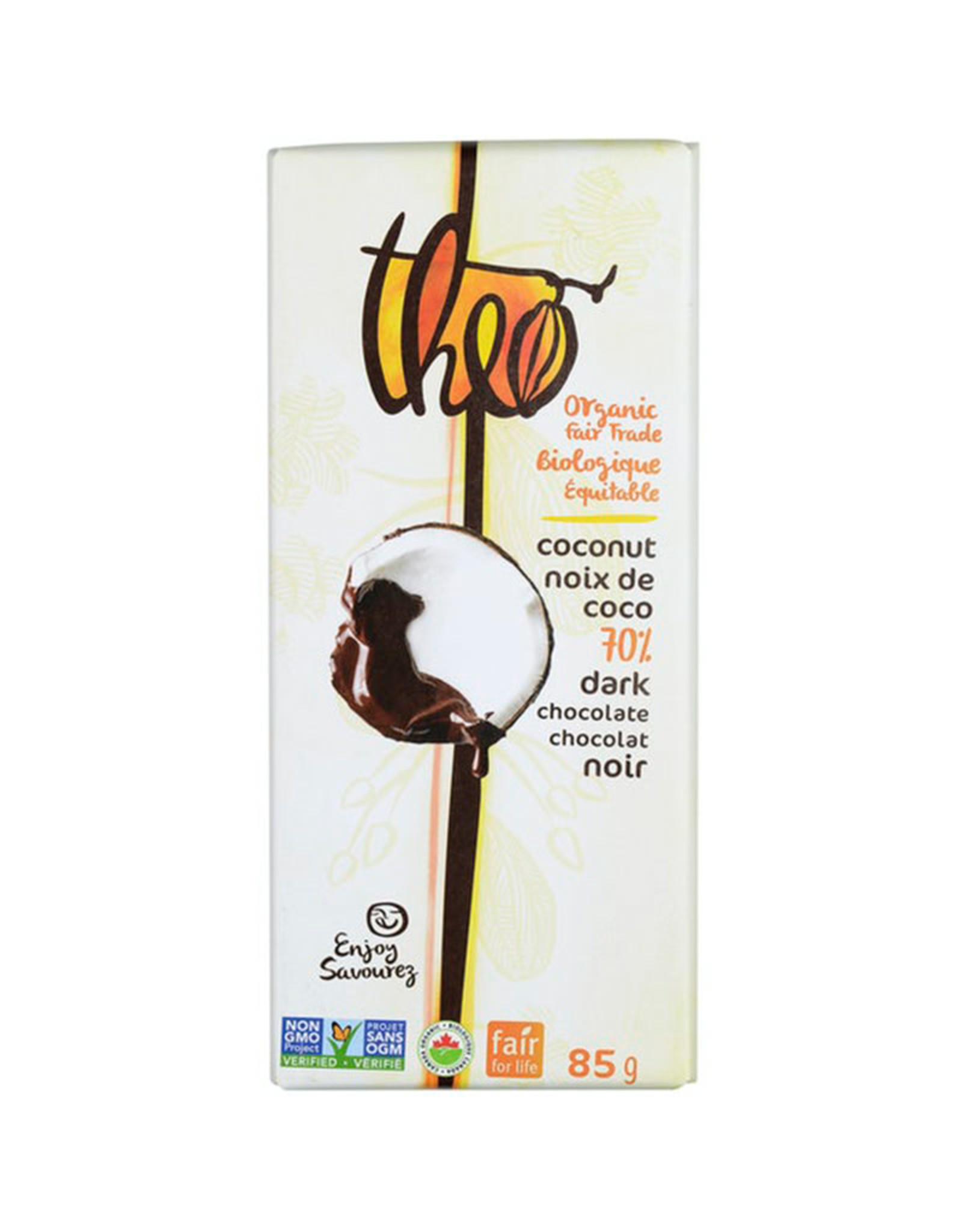 Theo Theo - Dark Chocolate, Coconut 70% (85g)