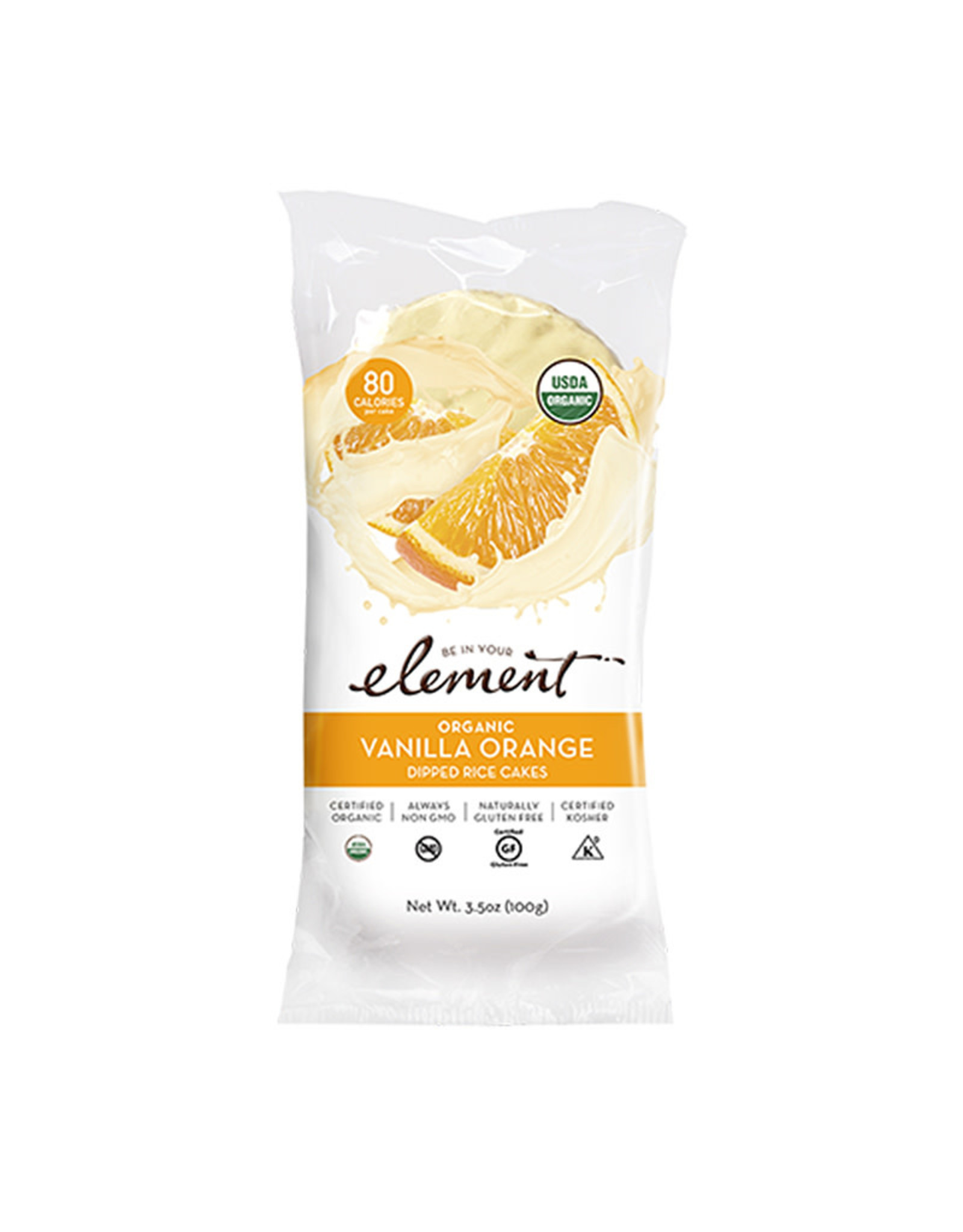 Element Element - Dipped Rice Cakes, Vanilla Orange (100g)