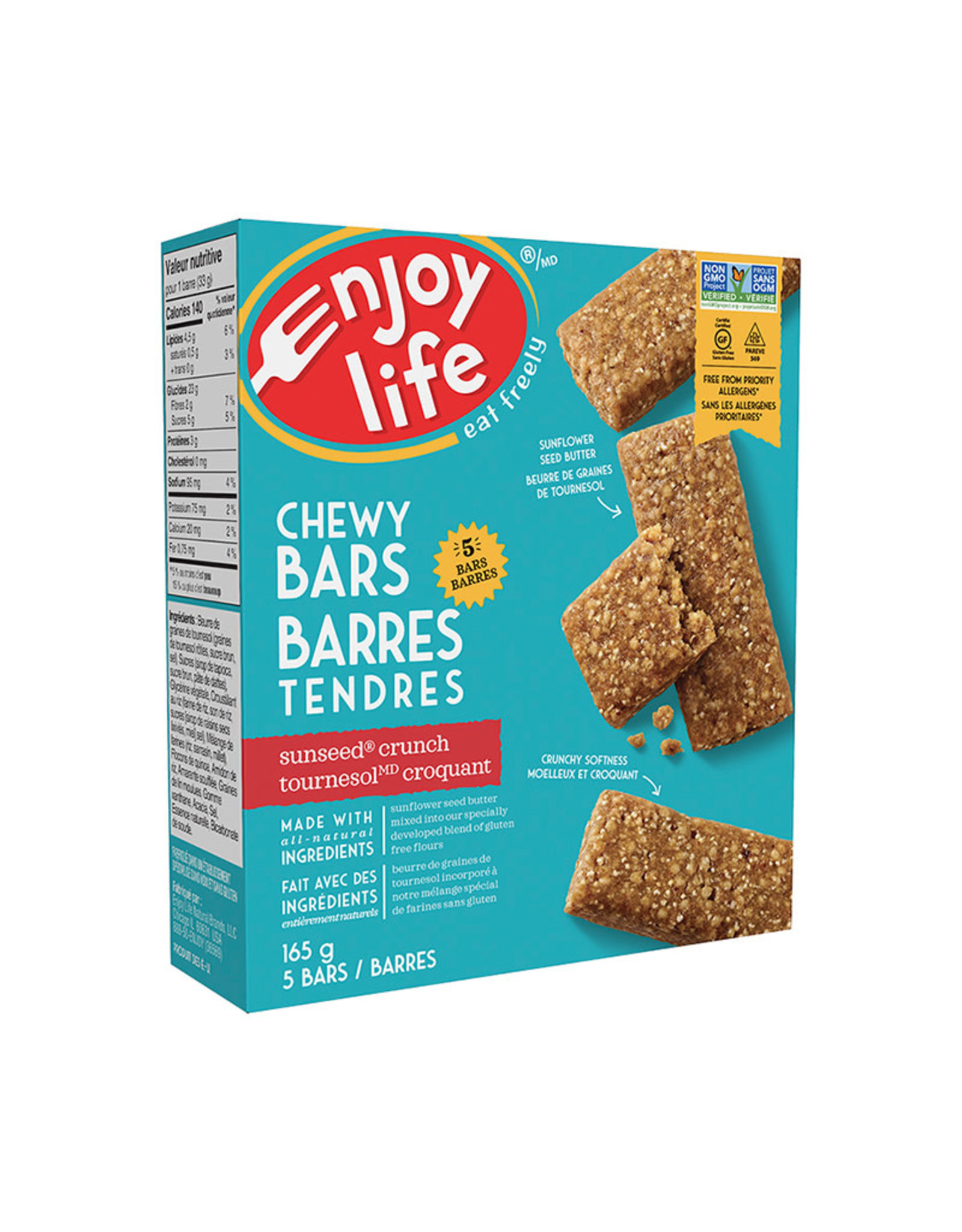 Enjoy Life Foods Enjoy Life - Baked Chewy Bars, Sunseed Crunch (165g)