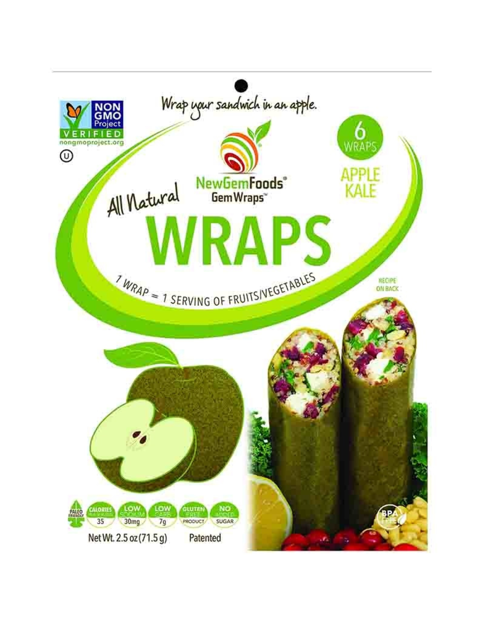 Gemwraps Gemwraps - Sandwich Wrap, Apples