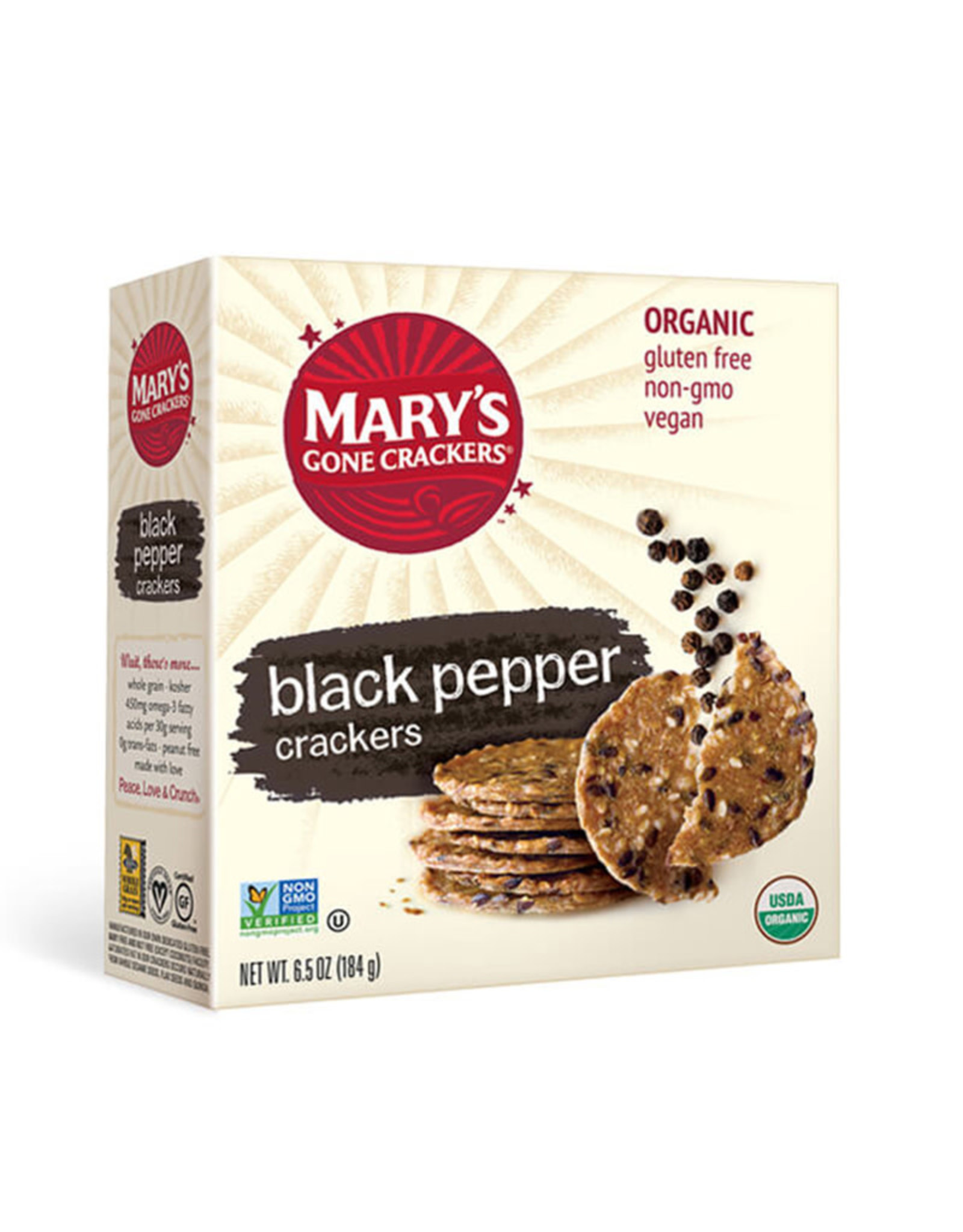 Mary's Organic Crackers Marys Organic Crackers - Black Pepper