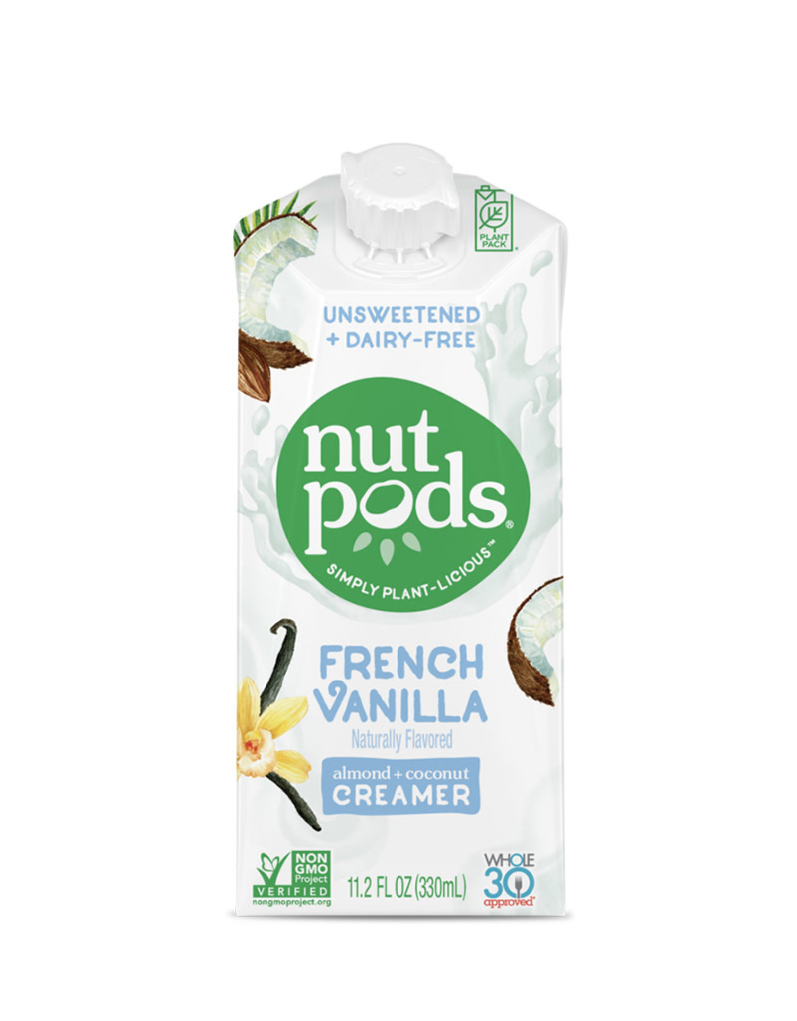 Nut Pods Nutpods - Unsweetened Dairy-Free Creamer, French Vanilla (330ml)