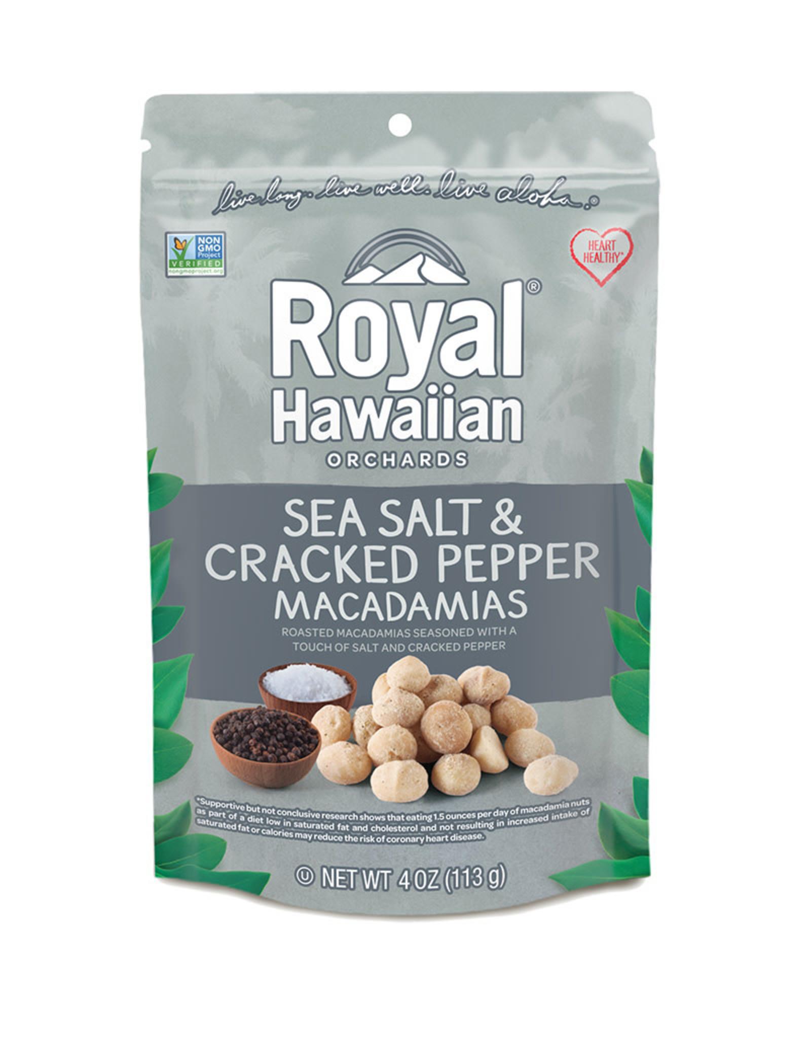 Royal Hawaiian Orchards Royal Hawaiian Orchards - Macadamia Nuts, Sea Salt & Cracked Pepper (113g)