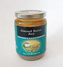 Nuts To You NTY - Natural Almond Butter, Raw Smooth (365g)