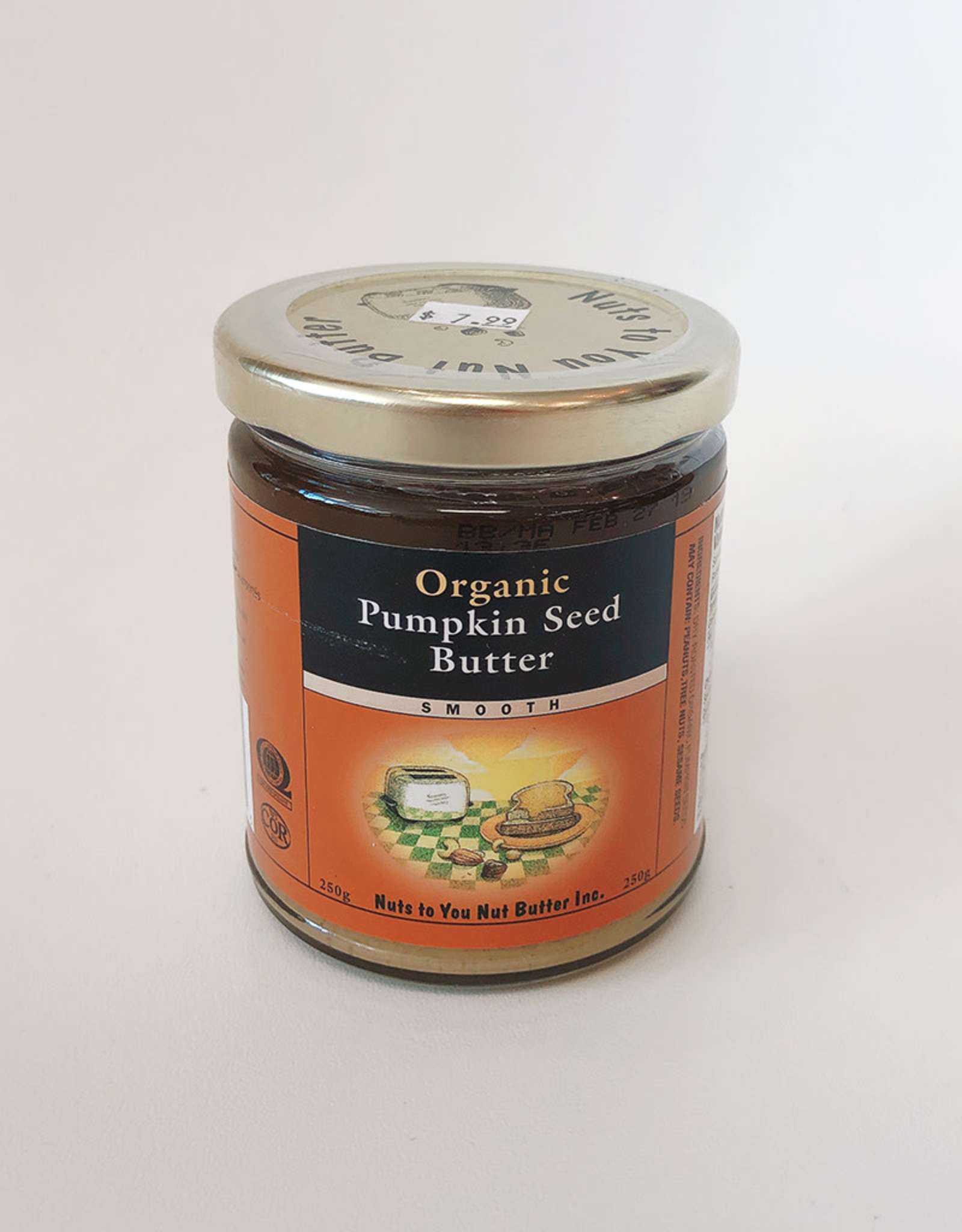 Nuts To You NTY - Organic Pumpkin Seed Butter (250g)