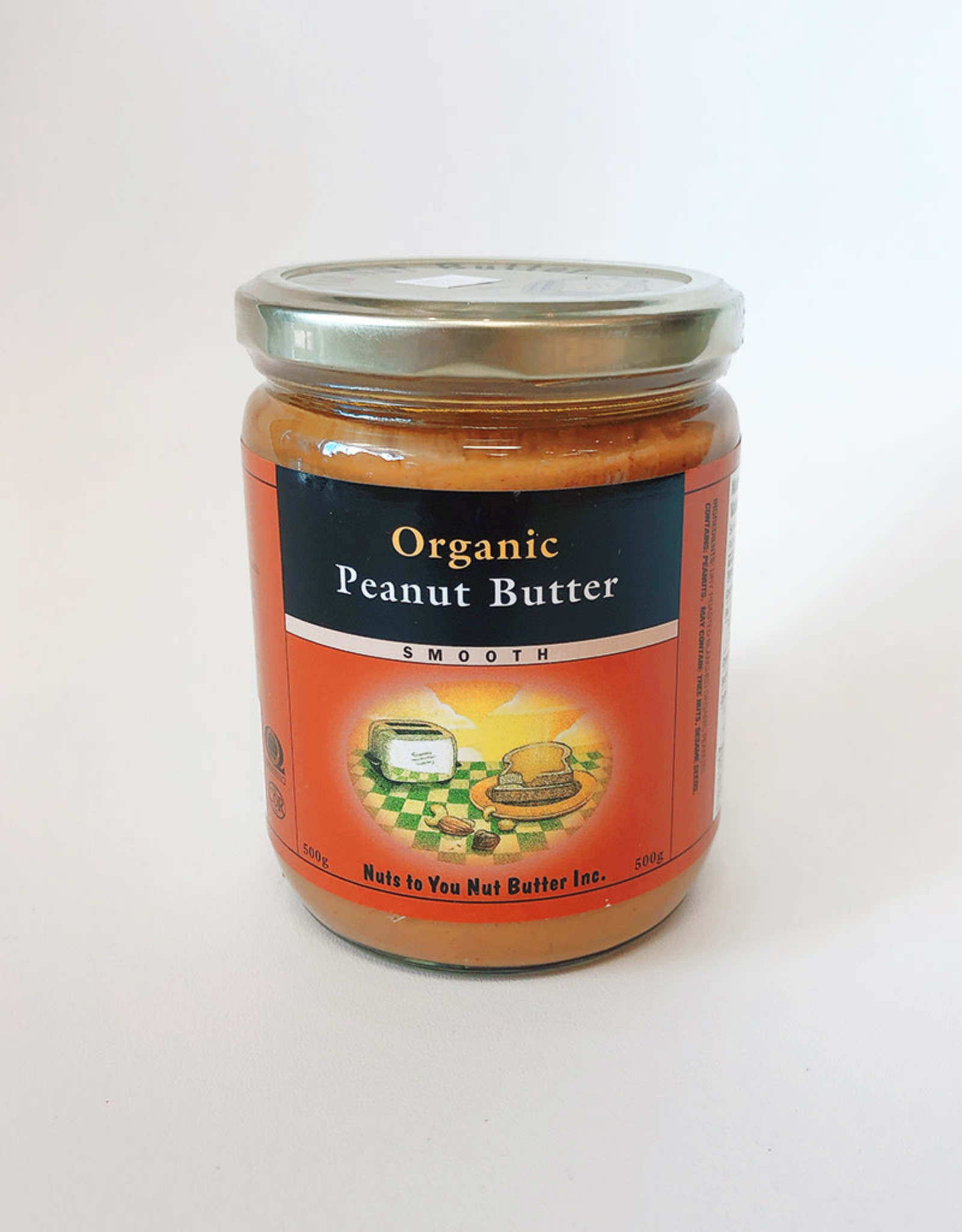 Nuts To You NTY - Organic Peanut Butter, Smooth (500g)
