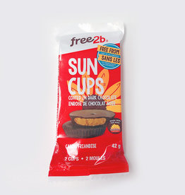Free2B Free2B - Sun Cups, Dark Chocolate Coated Sunflower Butter (42g)