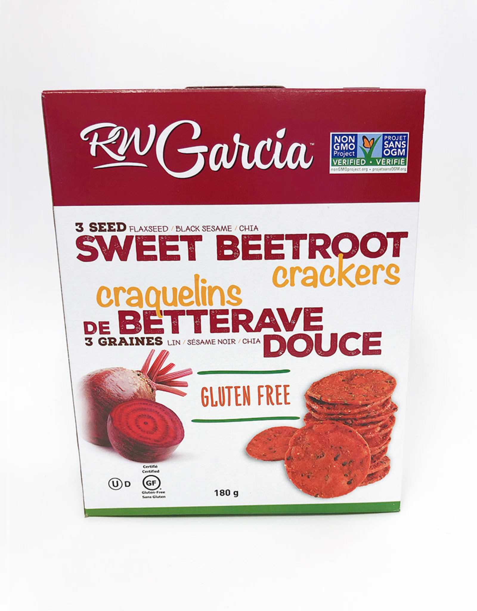 R.W. Garcia R.W. Garcia - 3 Seed Crackers, Sweet Beet (180g)