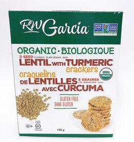 R.W. Garcia R.W. Garcia - 3 Seed Crackers, Lentil Turmeric (180g)
