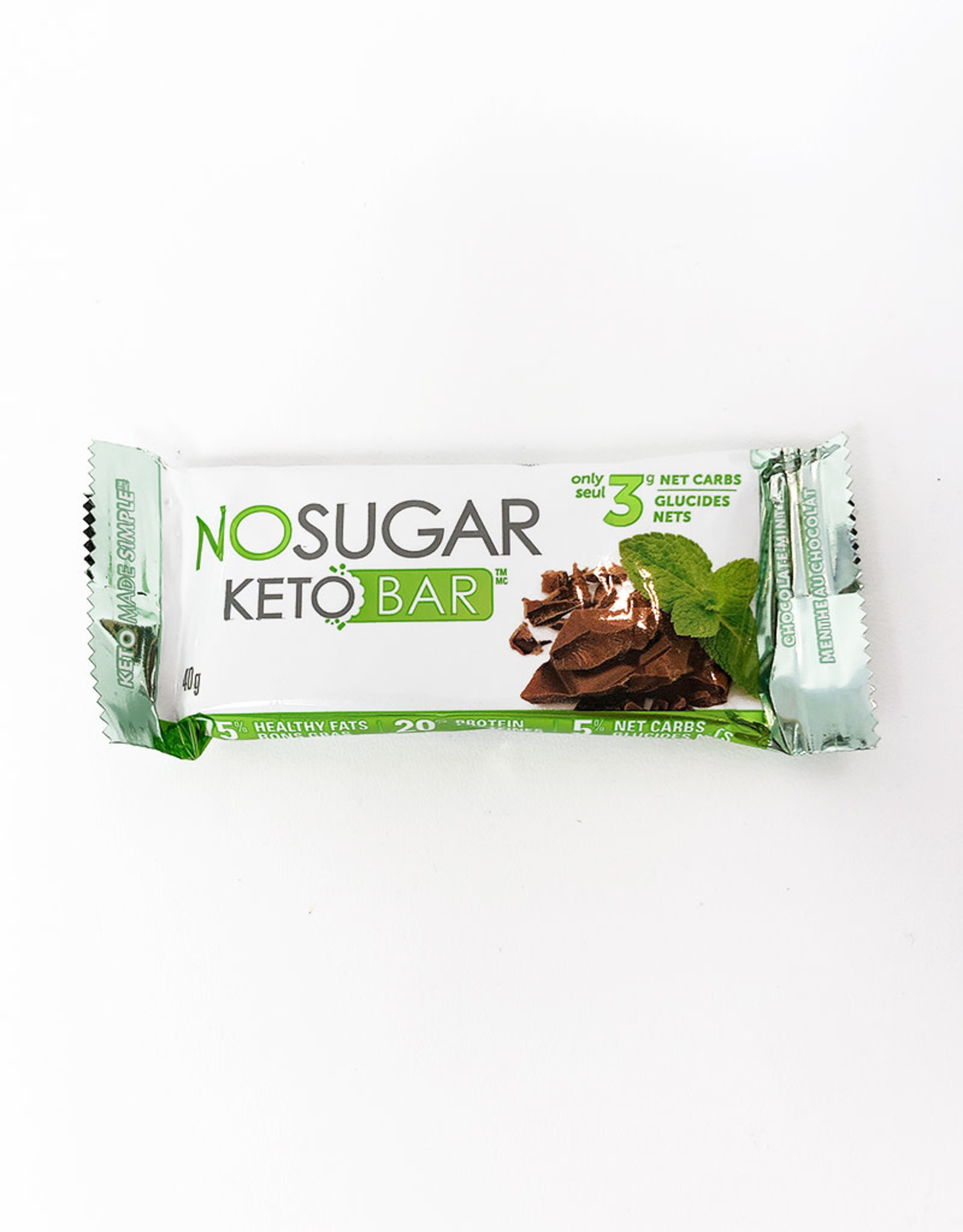 Vegan Pure Vegan Pure - Keto Bar, Chocolate Mint (40g)