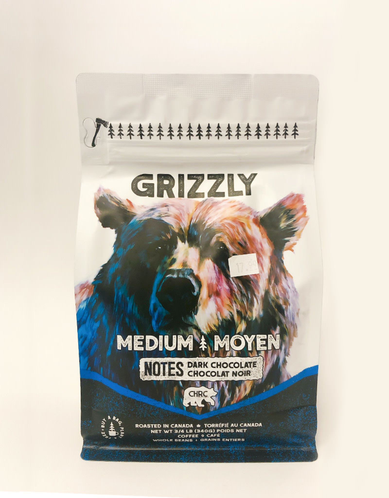 Calgary Heritage Roasting Company Coffe Calgary Heritage Coffee - Whole Bean, Grizzly Medium (340g)