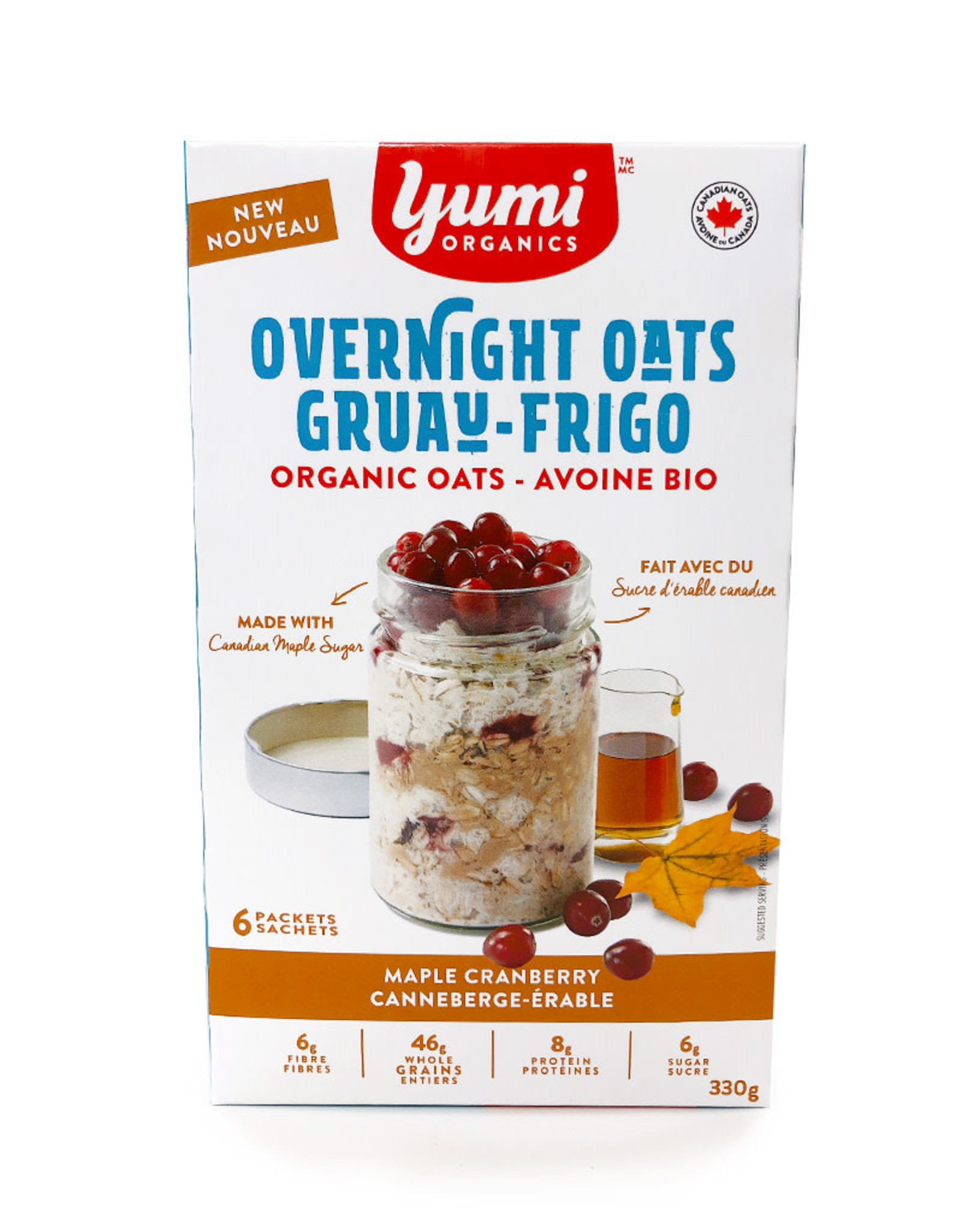 Yumi Organics Yumi Organics - Overnight Oats, Maple Cranberry