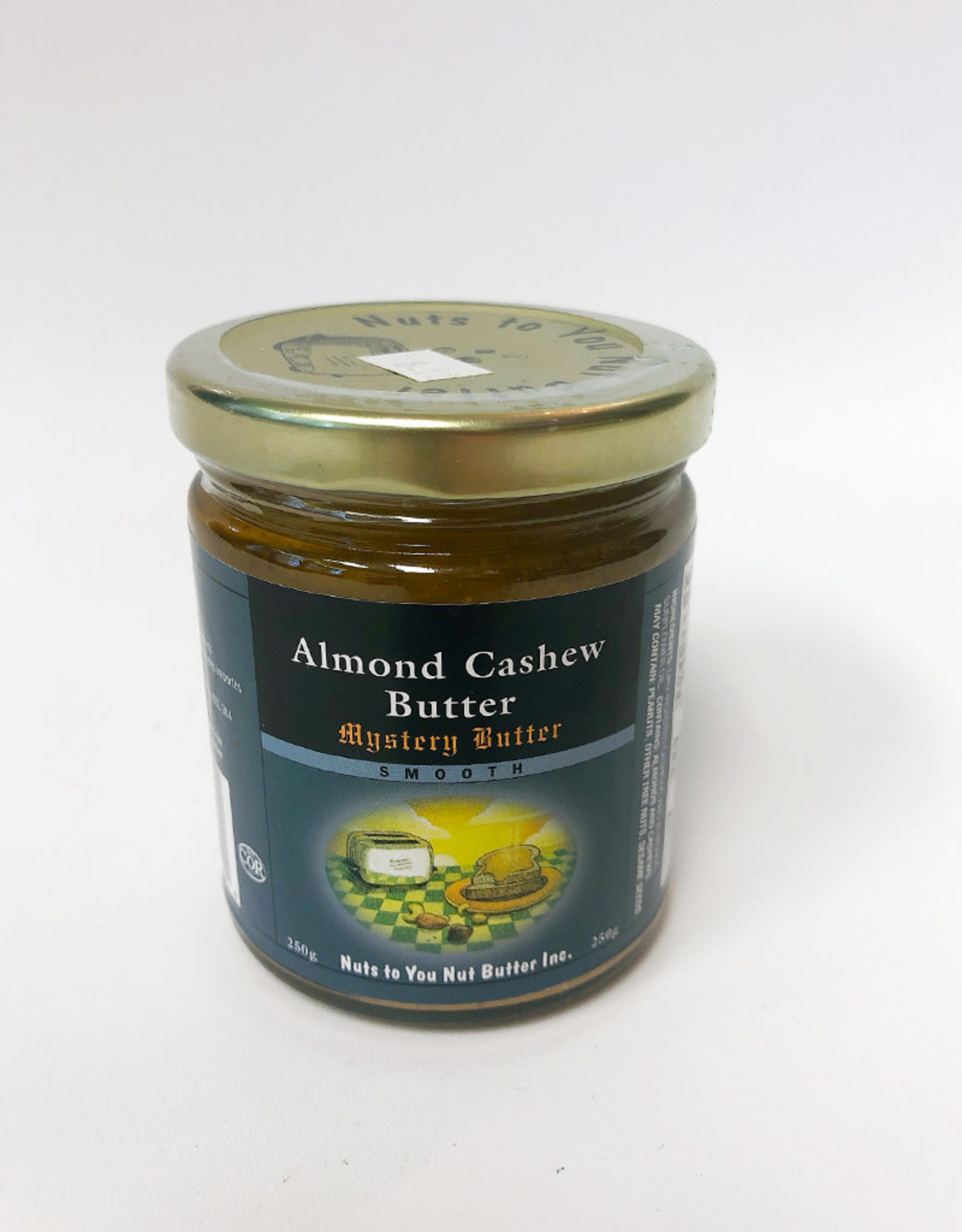 Nuts To You NTY - Natural Almond and Cashew Butter (250g)