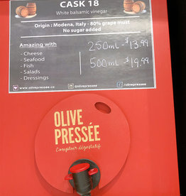 Olive Pressee Olive Pressee - Cask 18 White Balsamic, 250ml