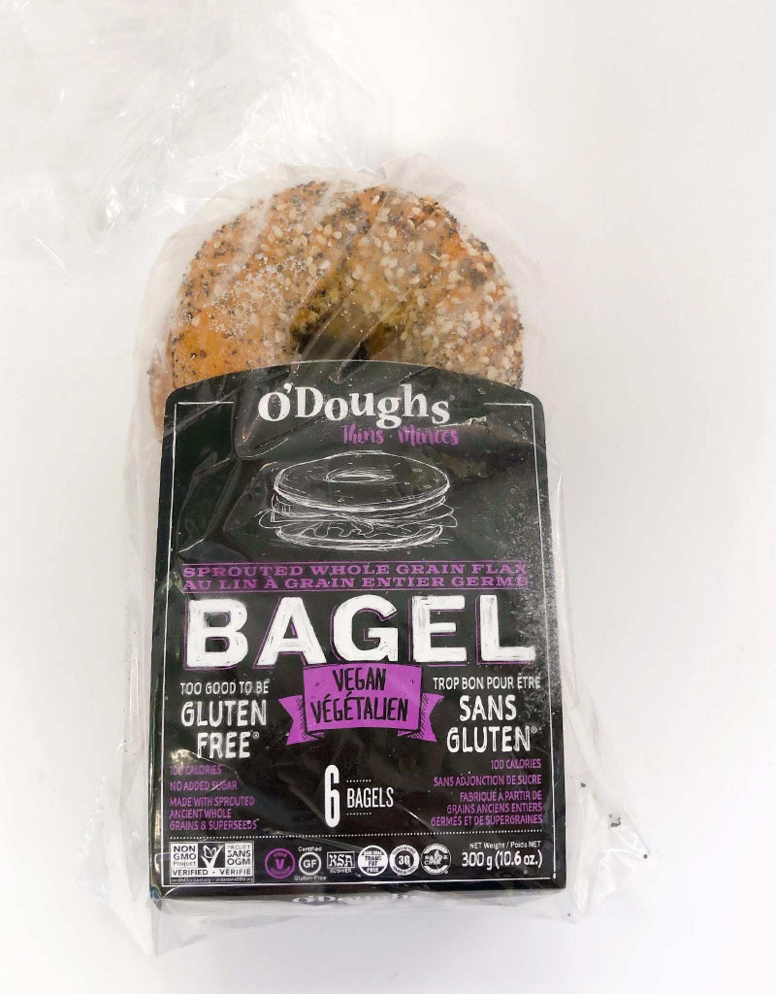 O'Doughs ODoughs - Bagels, Spouted Whole Grain Flax