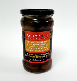 Acropolis Acropolis - Organic Engraved Kalamata Olives in EVOO with Oregano (315 ml)