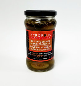Acropolis Acropolis - Organic Blonde Cracked Olives with Rosemary (315 ml)