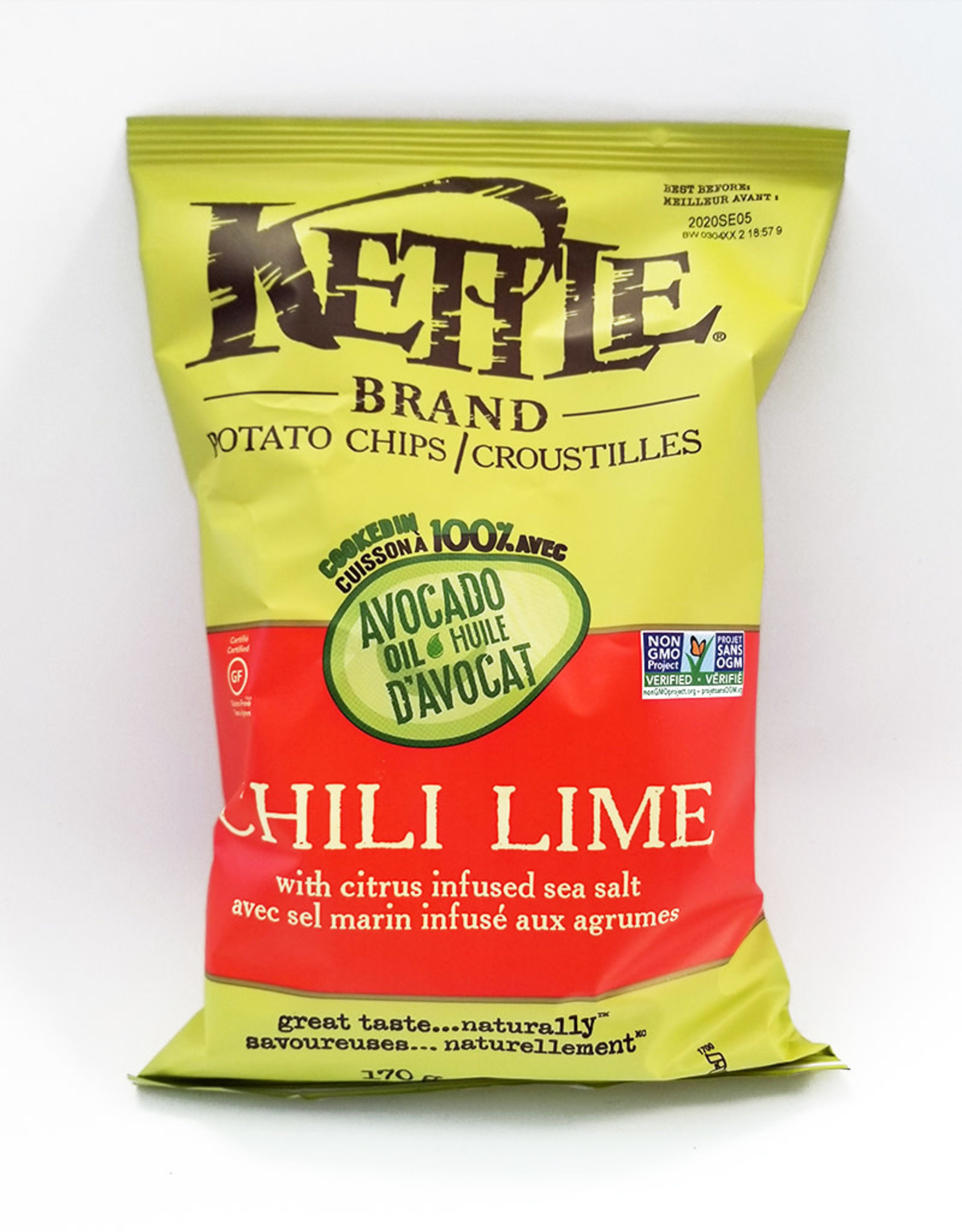 Kettle Kettle Brand - Potato Chips, Chili Lime (220g)