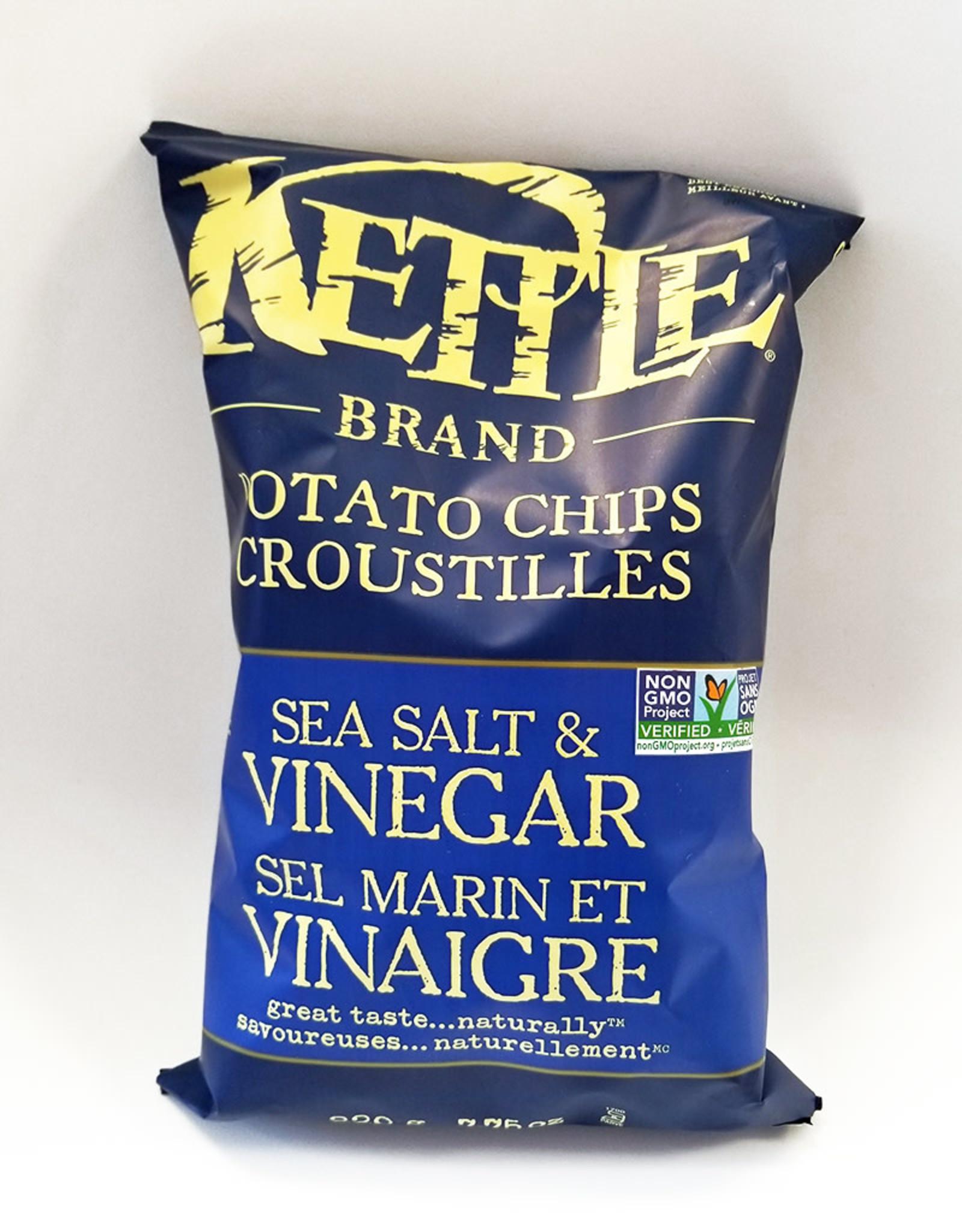 Kettle Kettle Brand - Potato Chips, Sea Salt and Vinegar (220g)
