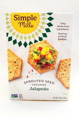 Simple Mills Simple Mills - Spouted Seed Crackers, Jalapeno (120g)