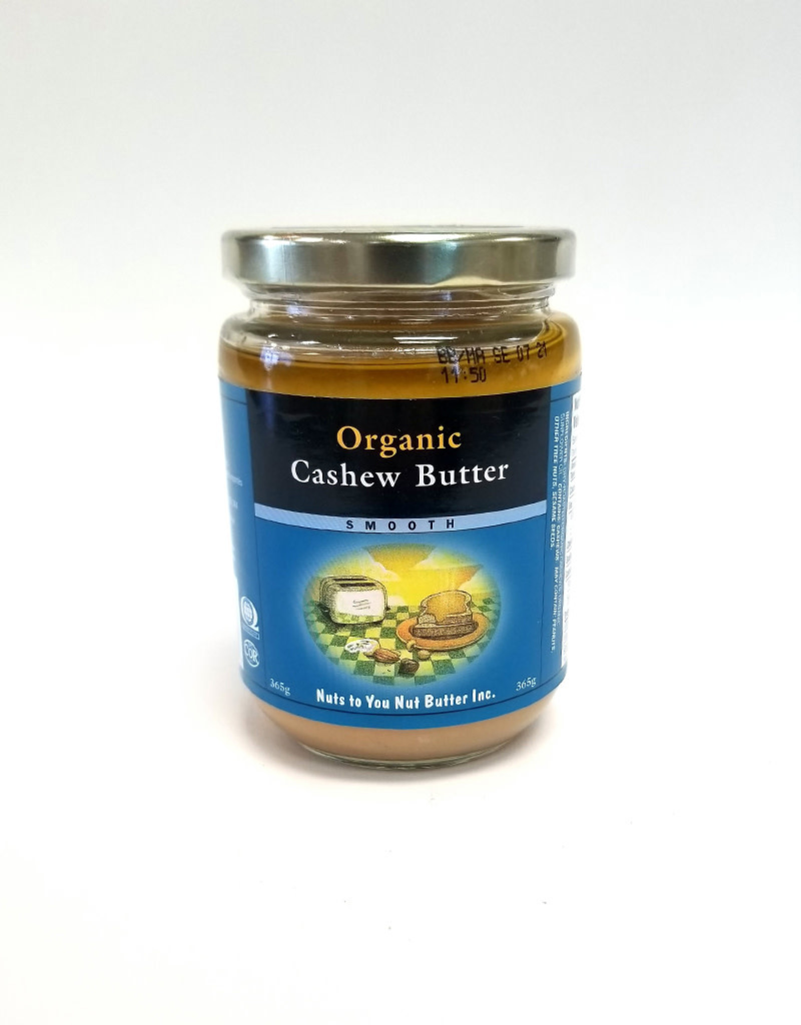 Nuts To You NTY - Organic Cashew Butter, Smooth (365g)