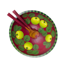SHERWOOD FOREST DESIGN 15'' AUBERGINE APPLES BOWL & SERVERS