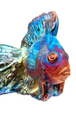 RAKU ART KOI FISH SCULPTURE