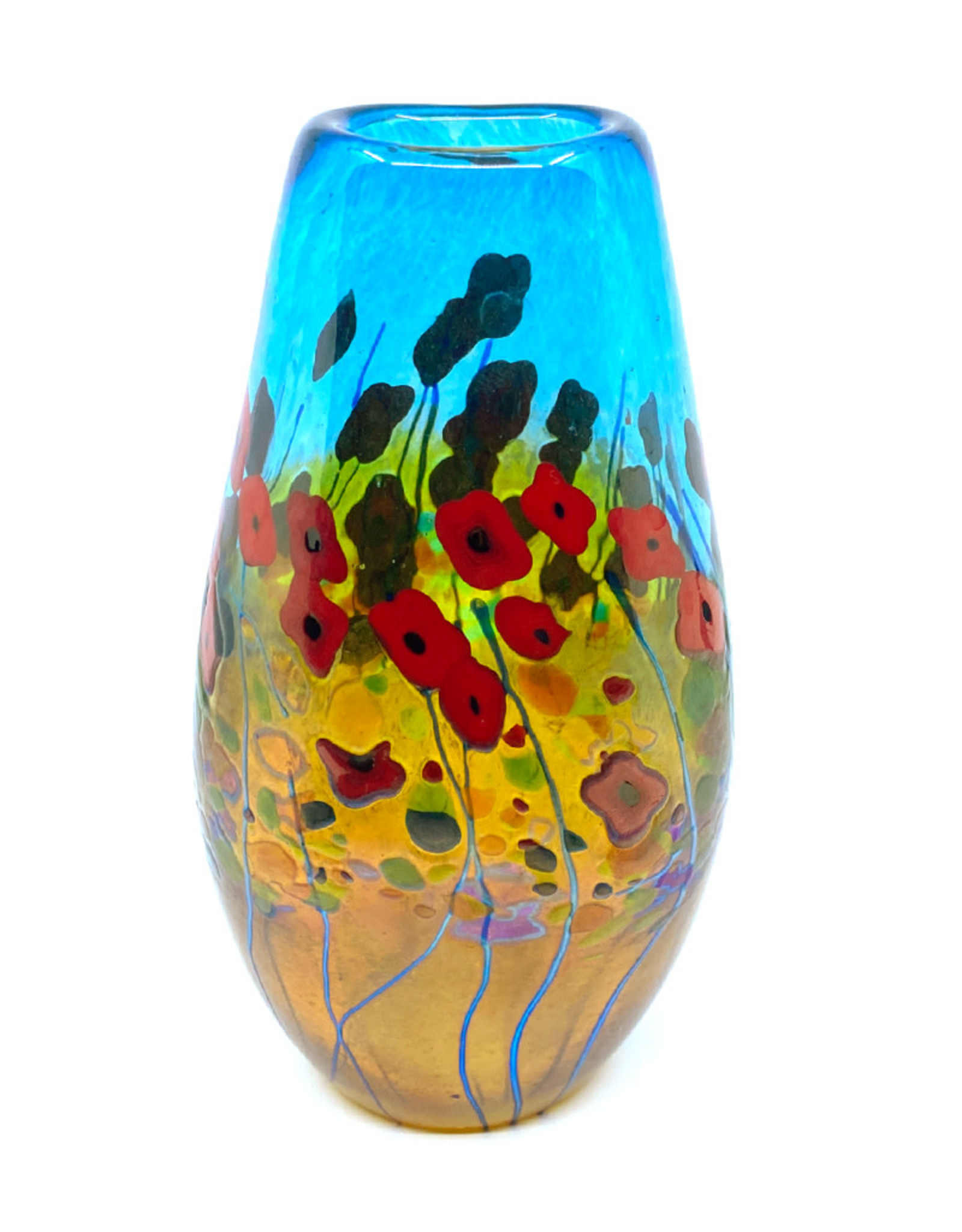 ROBERT HELD CALIFORNIA POPPY TEARDROP VASE