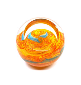 GLASS EYE JUPITER PAPERWEIGHT